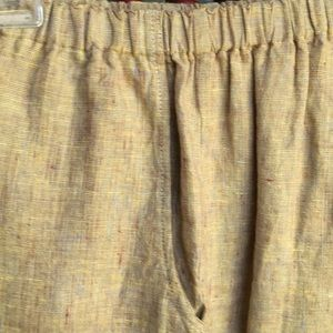 Flax P pants w pockets Linen jacket avail M